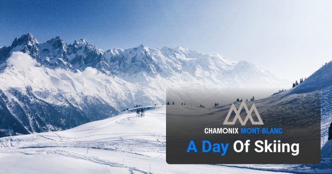 A day of skiing in chamonix